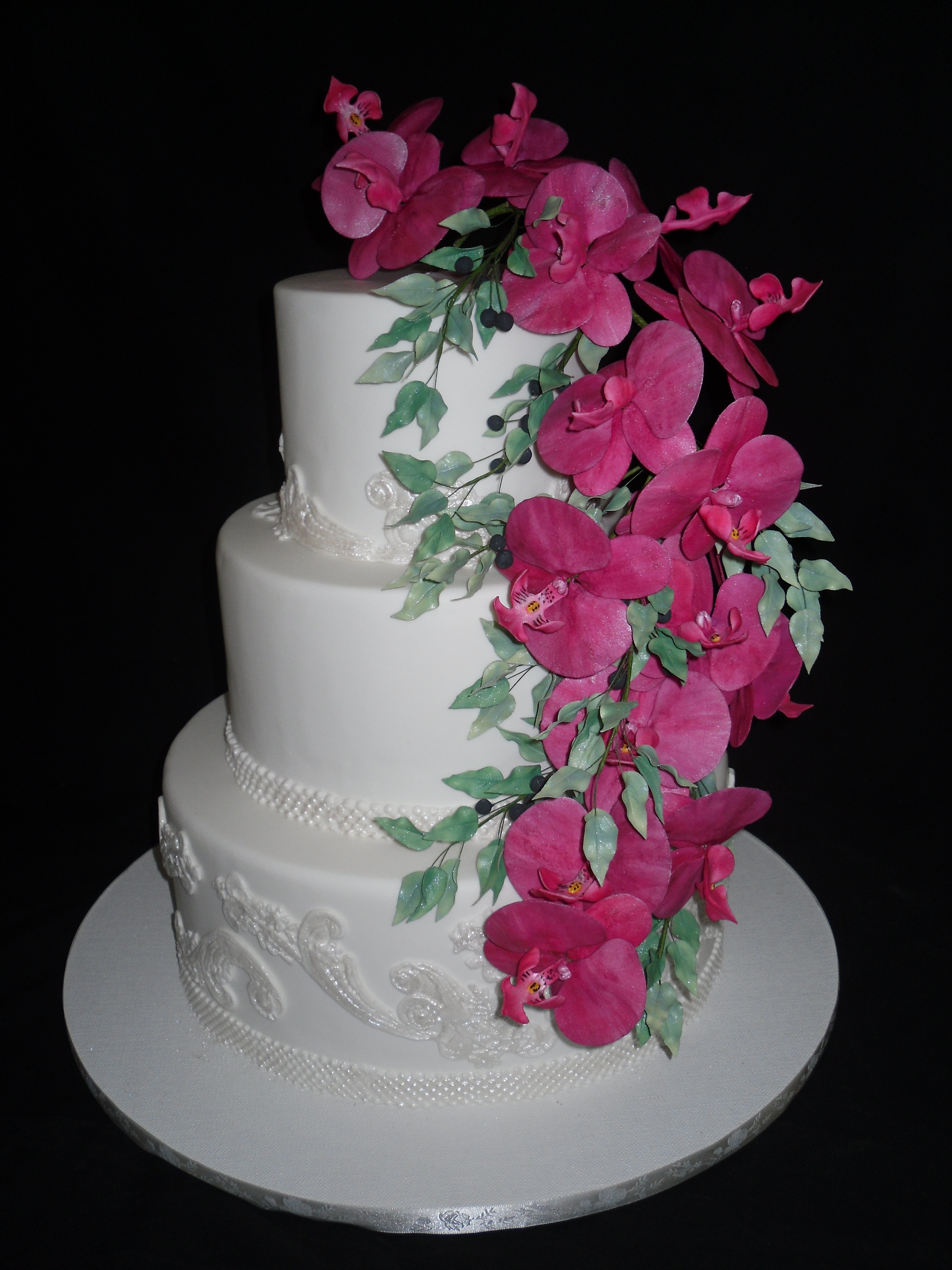 Pink Flowers Wedding Cake Wel e to Cindys Cakes